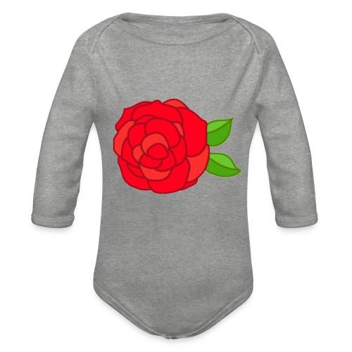 Róża - Ekologiczne body niemowlęce z długim rękawem