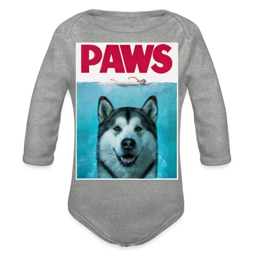paws 2 - Organic Longsleeve Baby Bodysuit
