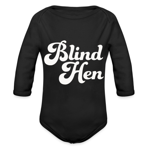Blind Hen - Logo T-shirt, slim fit, black - Organic Longsleeve Baby Bodysuit