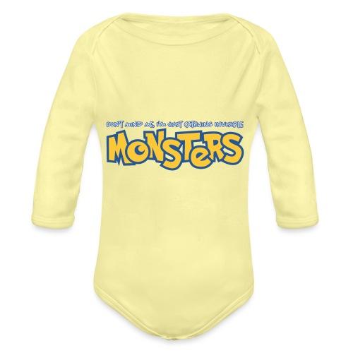 Monsters - Organic Longsleeve Baby Bodysuit