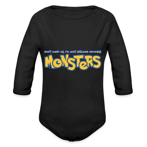 Monsters - Organic Longsleeve Baby Bodysuit