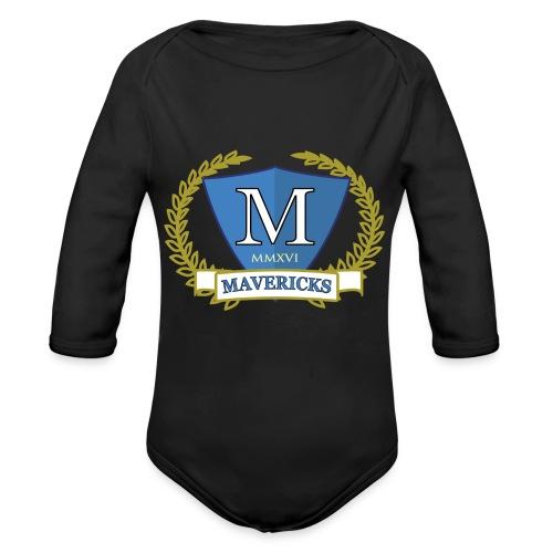 Mavericks_Club-_Stemma_Blue - Body ecologico per neonato a manica lunga