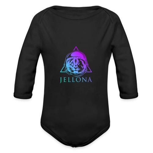 Jellona - space party - Vauvan pitkähihainen luomu-body