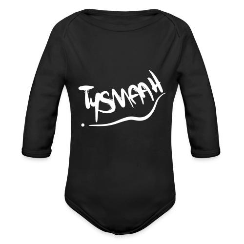 Logo blanc - TYSMAAH - Body Bébé bio manches longues