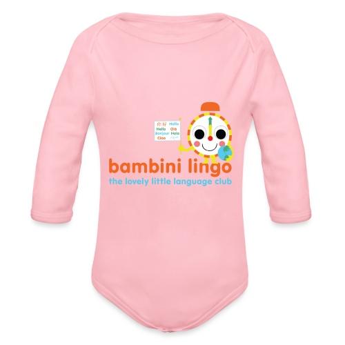 bambini lingo - the lovely little language club - Organic Longsleeve Baby Bodysuit