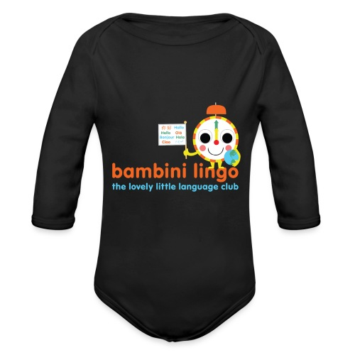 bambini lingo - the lovely little language club - Organic Longsleeve Baby Bodysuit