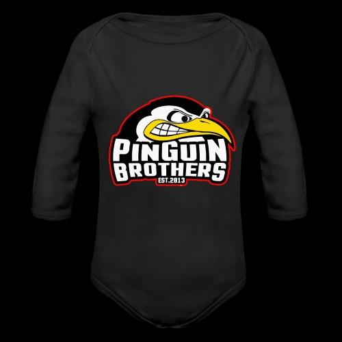 Pinguin bracia Clan - Ekologiczne body niemowlęce z długim rękawem