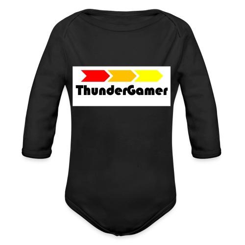 Reusable Thunder Gamer Cup - Organic Longsleeve Baby Bodysuit