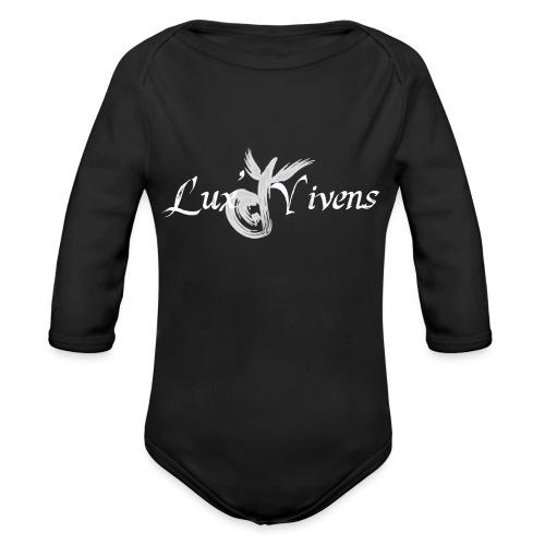 Logo LV Blanc - Body Bébé bio manches longues