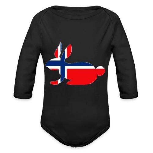 norwegian bunny - Organic Longsleeve Baby Bodysuit