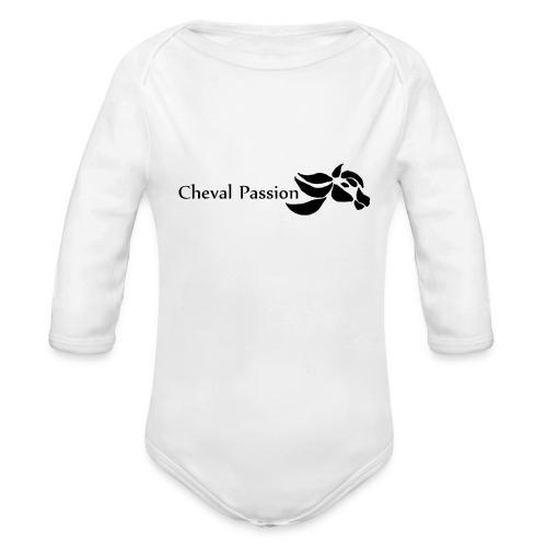 CHEVAL passion - Body Bébé bio manches longues