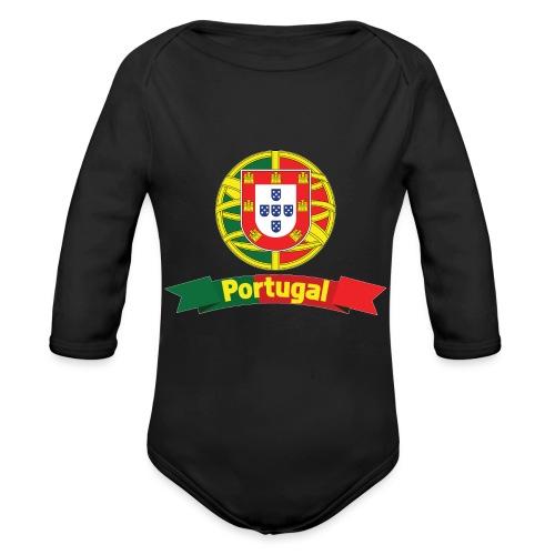 Portugal Campeão Europeu Camisolas de Futebol - Organic Longsleeve Baby Bodysuit