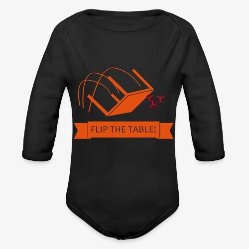 Flip the table! - Økologisk langermet baby-body