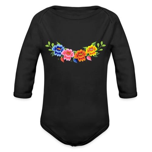 Flores Mexicanas - Body orgánico de manga larga para bebé