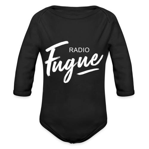 Radio Fugue Blanc - Body bébé bio manches longues