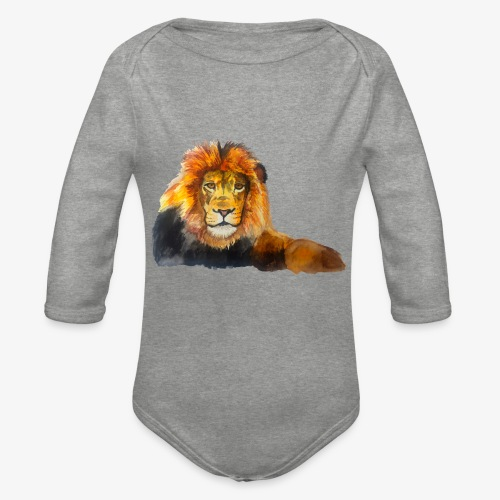 Lion - Organic Longsleeve Baby Bodysuit