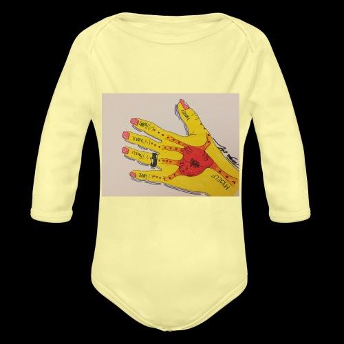 9D8D600F D04D 4BA7 B0EE 60442C72919B - Langærmet babybody, økologisk bomuld