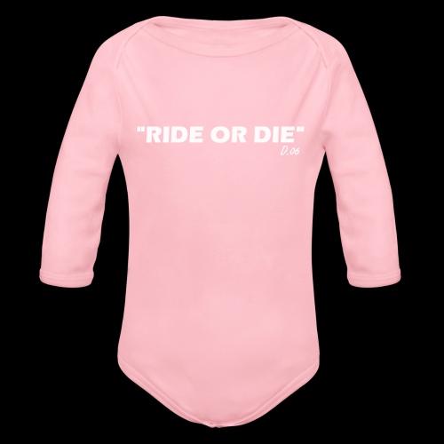 Ride or die (blanc) - Body Bébé bio manches longues