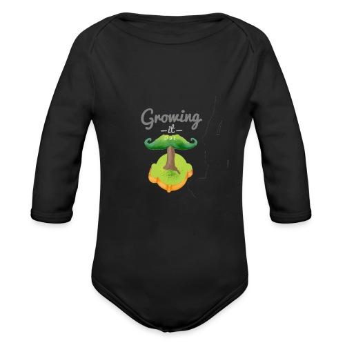 Moustache tree - Organic Longsleeve Baby Bodysuit