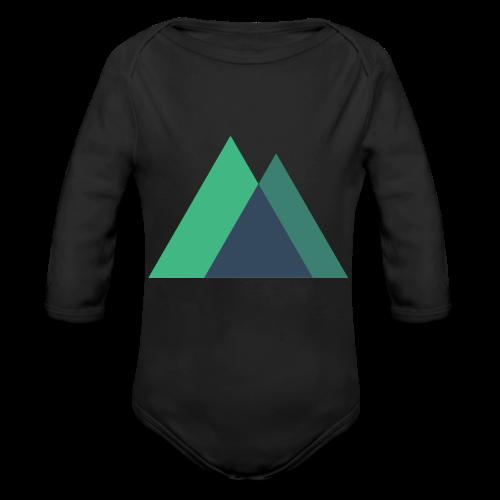 Mountain Logo - Organic Longsleeve Baby Bodysuit