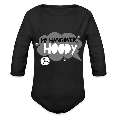 silver - Organic Longsleeve Baby Bodysuit