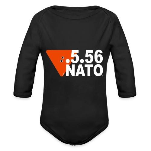 .5.56 NATO BLANC - Body Bébé bio manches longues