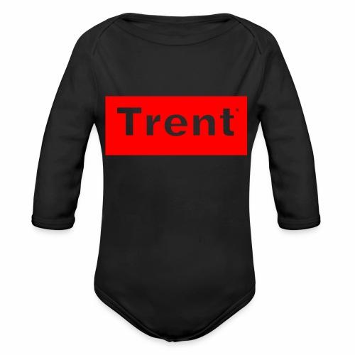 TRENT classic red block - Organic Longsleeve Baby Bodysuit
