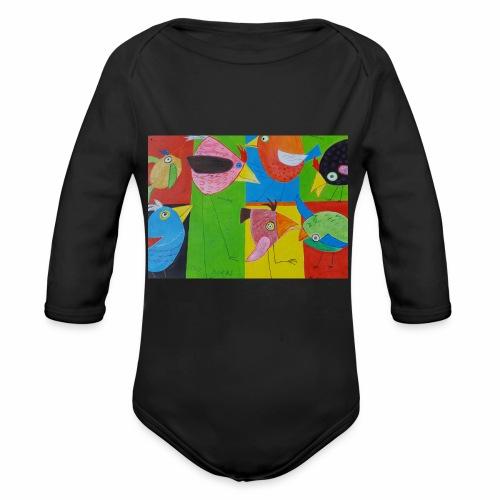 Lovebirds - Liebesvögel - Baby Bio-Langarm-Body