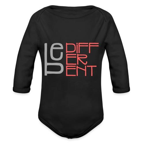 Be different - Fun Spruch Statement Sprüche Design - Organic Longsleeve Baby Bodysuit