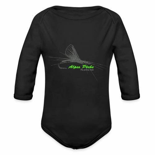 Alpes pêche - fly fishing - Body Bébé bio manches longues