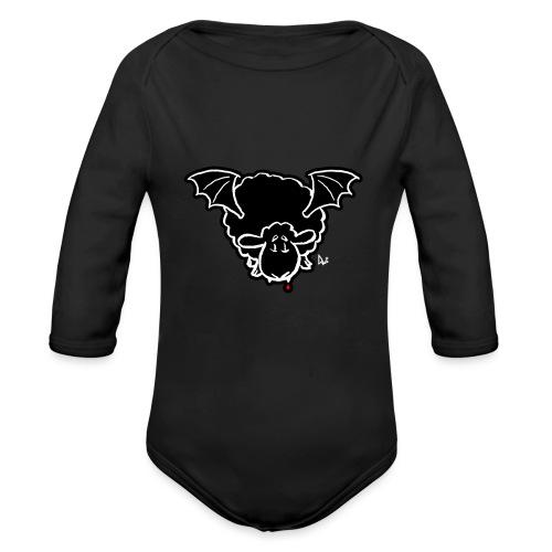 Vampire Sheep (white) - Baby Bio-Langarm-Body