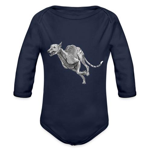 Greyhound - Langærmet babybody, økologisk bomuld