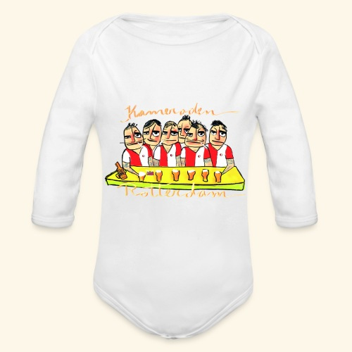 Kameraden Feyenoord - Baby bio-rompertje met lange mouwen