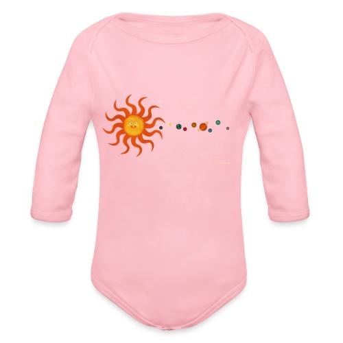 Solar System - Organic Longsleeve Baby Bodysuit