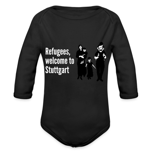 Refugees welcome - Baby Bio-Langarm-Body