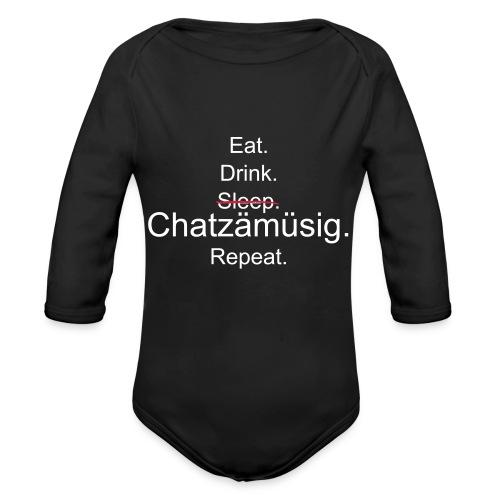 E. D. S. Chatzämüsig. R.2 - Baby Bio-Langarm-Body