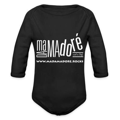 T-Shirt - Uomo - Logo Bianco + Sito - Body ecologico per neonato a manica lunga