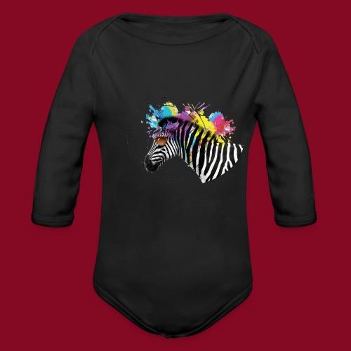 Watercolour-Z - Body ecologico per neonato a manica lunga