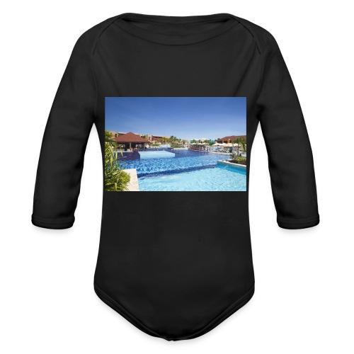 splendide piscine - Body Bébé bio manches longues