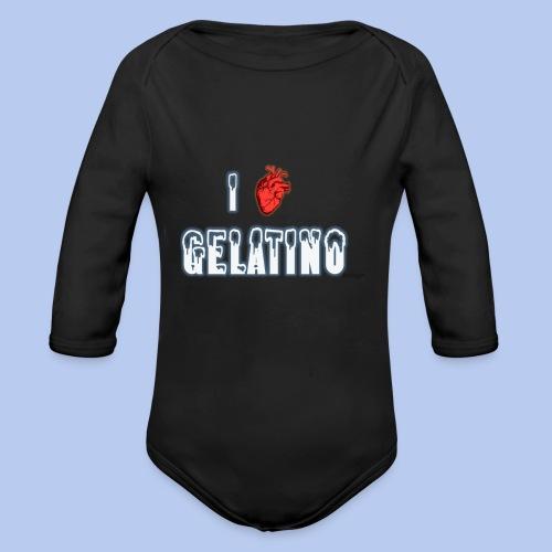 PuntoACapo - I ♥ Gelatino- - Body ecologico per neonato a manica lunga