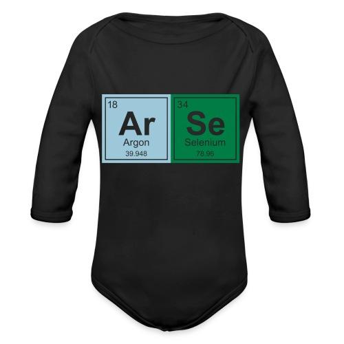 Geeky Arse Periodic Elements - Organic Longsleeve Baby Bodysuit