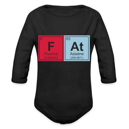 Geeky Fat Periodic Elements - Organic Longsleeve Baby Bodysuit