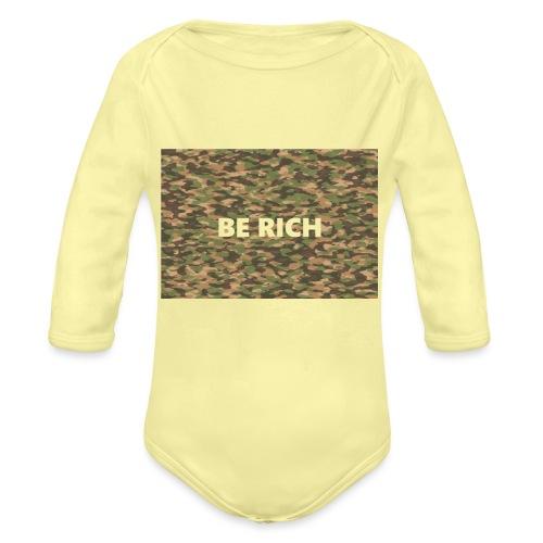 ARMY TINT - Baby bio-rompertje met lange mouwen