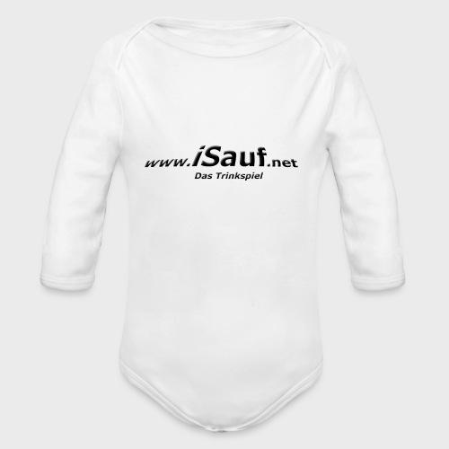 iSauf-Schriftzug - Baby Bio-Langarm-Body