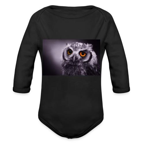 Pöllö - Vauvan pitkähihainen luomu-body