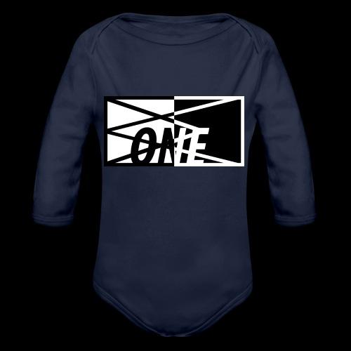 ONE FULL x BLCK - Baby bio-rompertje met lange mouwen