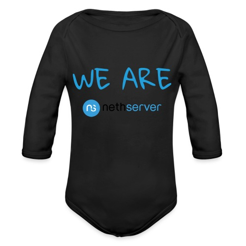 blue-black-rectangle - Organic Longsleeve Baby Bodysuit