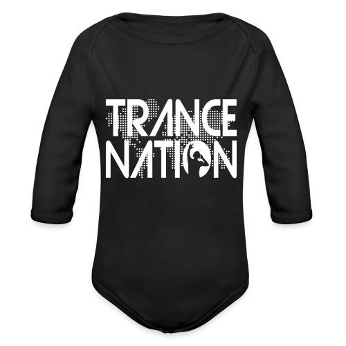 Trance Nation (White) - Ekologisk långärmad babybody