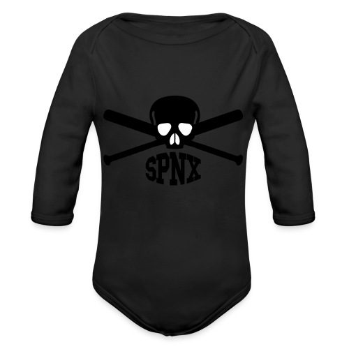SPNX SKULL & BATS - Baby Bio-Langarm-Body