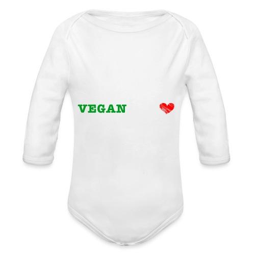 be my VEGANtine - white - Organic Longsleeve Baby Bodysuit